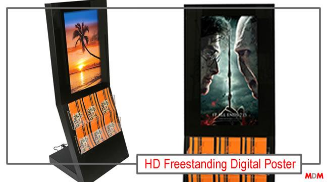 HD Freestanding Digital Display by Magic Display Mirror