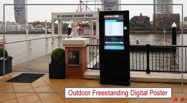Outdoor Freestanding Digital Display by Magic Display Mirror