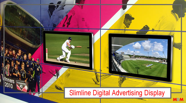 Slimline Digital AdvertisingDisplay by Magic Display Mirror