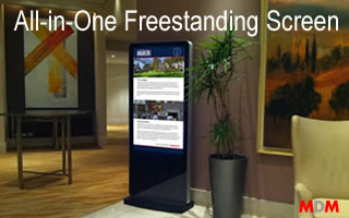 All-in-One Freestanding Screen by Magic Display Mirror
