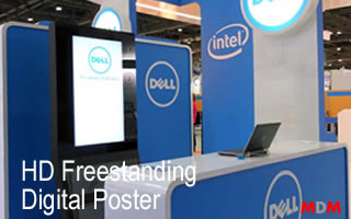 HD Freestanding Digital Poster by Magic Display Mirror