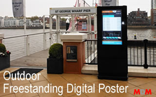 Outdoor Freestanding Digital Poster by Magic Display Mirror