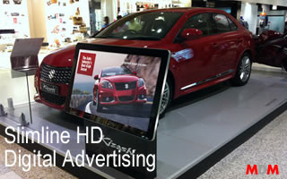 Slimline HD Digital Advertising Display by Magic Display Mirror